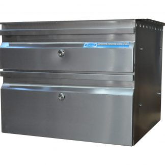 Single and Double Underbench Drawer for Stainless Benches, 450 x 480 x 370mm high.