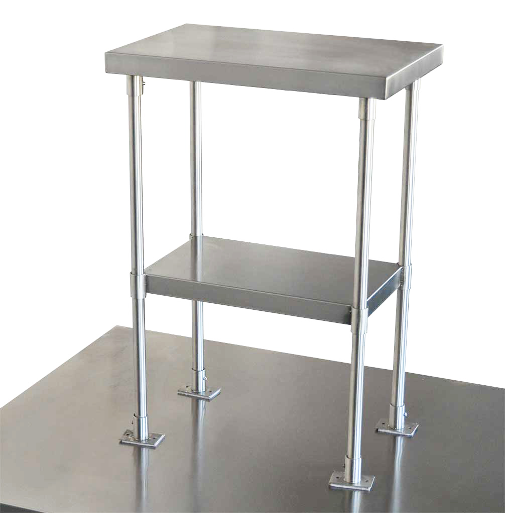 Stainless Steel Over Bench Shelf 2-Tier, 550 x 350mm