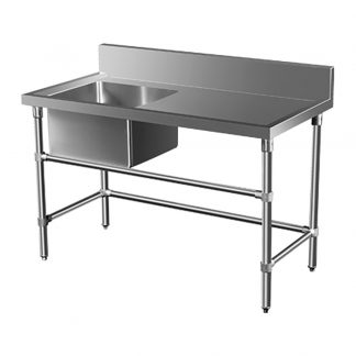 Stainless Steel Catering Sink - Right Bench, 1350 x 700 x 900mm high.