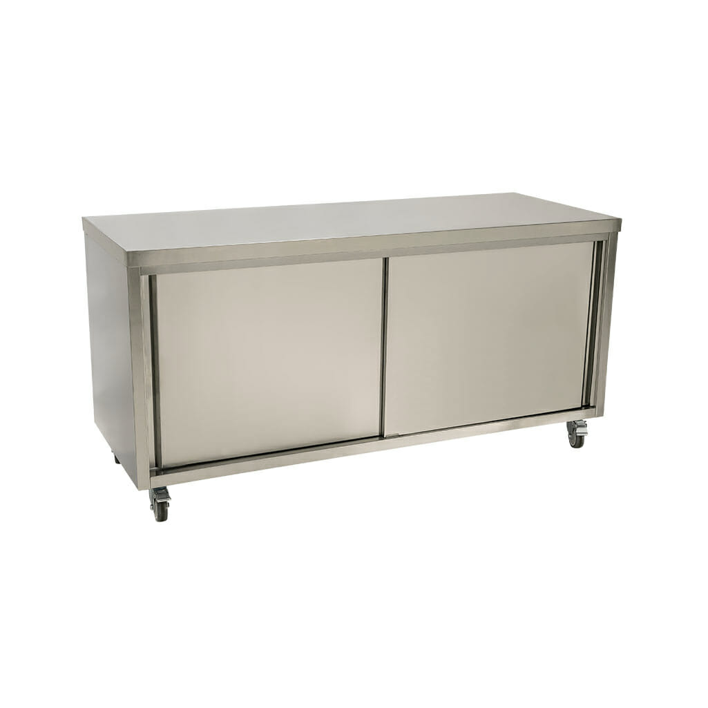 Stainless Steel Restaurant Cabinet, 1800 x 700 x 900mm high